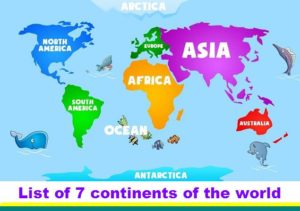 List Of Countries In The World MIT India - List of 7 continents of the world